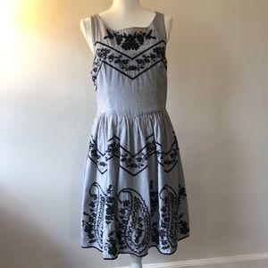 Derhy Vintage Inspired Cross Stitch Dress - Large
